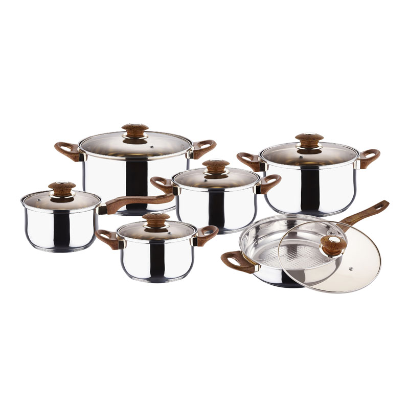 12PCS STAINLESS STEEL COOKWARE SET BH-1301