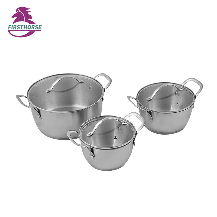 6PCS STAINLESS STEEL COOKWARE SET FH-300-6
