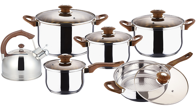 12PCS STAINLESS STEEL COOKWARE SET KH-1007