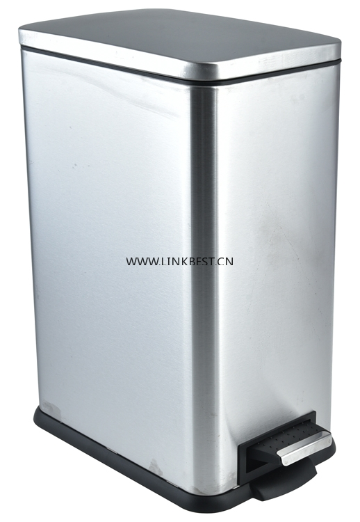 Rectangular step foot pedal garbage bin RY-136A series